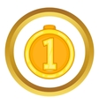 Medal for first place icon vector image vector image