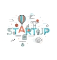 Modern concept of word startup vector image