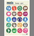 Music and media web icons set drawn by chalk vector | Price: 1 Credit (USD $1)