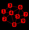 number in mesh network with number abstract vector image vector image