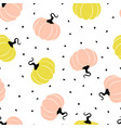 pattern with pumpkin vector image vector image