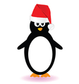 penguin with red hat vector image