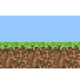 pixel minecraft style land background concept vector image vector image