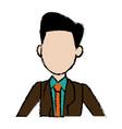 portrait man politician business cartoon vector image vector image
