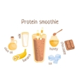 Protein Smoothie Infographic Recipe With Needed vector image vector image