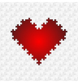 puzzle heart vector image vector image