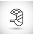 Respirator mask line icon vector image vector image