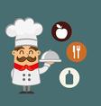 restaurant chef design vector image vector image