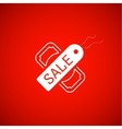 Sale symbol tag and dollar icon vector image vector image