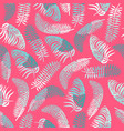 seamless pattern with blue tropical leaves vector image vector image