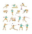 set of people in sport poses Track and vector image vector image