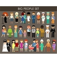 Set of people of different professions and ages vector image