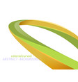 shiny colored curved scene vector image vector image