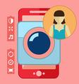 Smartphone camera app selfie icon vector image vector image