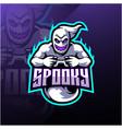 spooky ghost esport mascot logo design vector image vector image