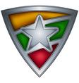 steel shield with flag burma vector image vector image