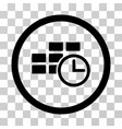 time table rounded icon vector image vector image