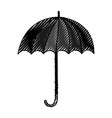 umbrella accessory isolated icon vector image vector image