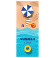 vertical summer banner vector image
