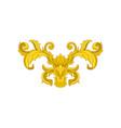 vintage baroque ornament elegant floral pattern vector image vector image