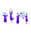 vocational education specialists graduating vector image vector image