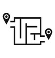 way solution map icon simple style vector image