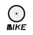 wheel bike vector image