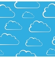 White clouds on blue seamless pattern vector image vector image