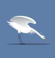 white egret vector image vector image