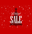 winter sale background with christmas tree and vector image vector image