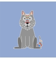 Wolf Wearing Tribal Clothing vector image vector image