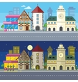 Urban City Landscape of Night and Day vector image