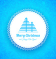 Winter Christmas Background with snowflakes and vector image