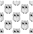 Doodle owl seamless pattern vector image