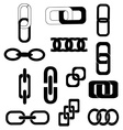 Link chains icons set vector image