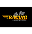 Racing Championship icon Race logo fast concept vector image