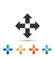 arrows in four directions icon on white background vector image