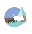 Avalanche Destroying The Village Natural Force vector image