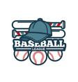 baseball tournament promotional emblem vector image vector image