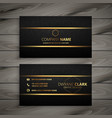 black and gold premium business card design vector image vector image