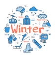 blue winter concept vector image vector image