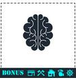 brain icon flat vector image vector image