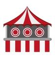 bullseye tent in carnival icon vector image