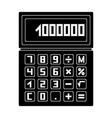 calculatorrealtor single icon in black style vector image