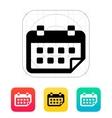 Calendar flipped icon vector image vector image