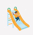 children playing on slide vector image vector image