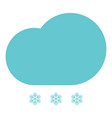 clouds with the drops blue and snowflake vector image