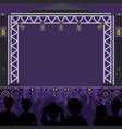 concert stage scene music stage and night vector image vector image