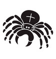 cross spider icon simple style vector image vector image