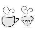 cup of tea and cake vector image vector image